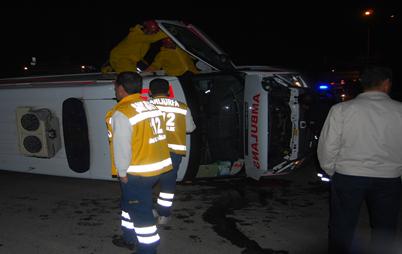 Ambulans Otomobille çarpıştı: 7 yaralı VİDEO