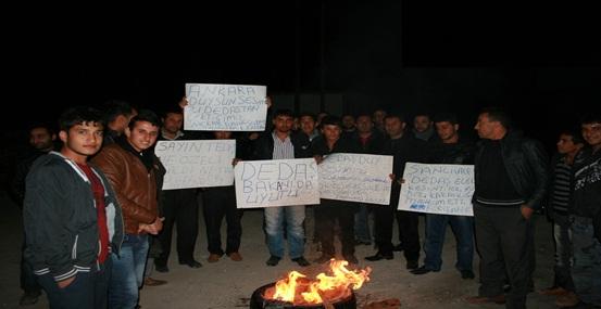 Elektrik kesintisine eylemli protesto VİDEO