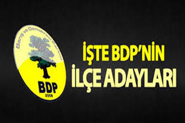 BEKLENEN BDP Ş.URFA İLÇE ADAYLARI