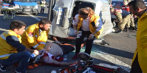 Şanlıurfa'da feci kaza; 1 ölü, 1 yaralı VİDEO
