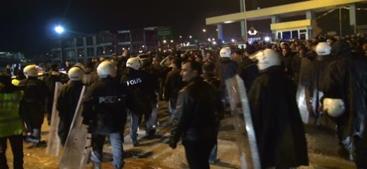 Şanlıurfaspor taraftarı protesto etti VİDEO