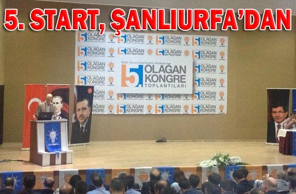 AK Parti İl Kongreleri için Şanlıurfa'dan start verdi