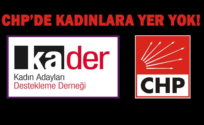 KADER tepki gösterdi; CHP'yi kınıyoruz!