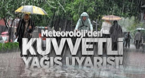 Şanlıurfa için kuvvetli yağış uyarısı