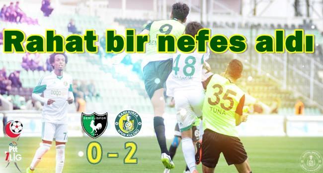 Şanlıurfaspor Denizlispor maçında güldü: 2-0