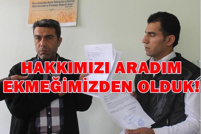Urfa'da Basın yoluyla haklarını arayan şoförleri BELSAN işten çıkardı