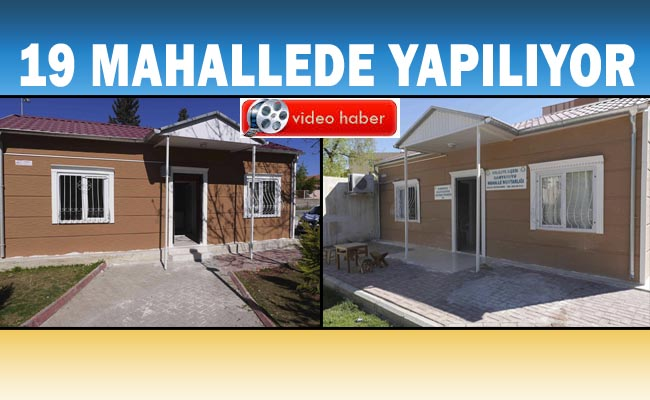 Haliliye'de Muhtar evleri bir bir tamamlanıyor