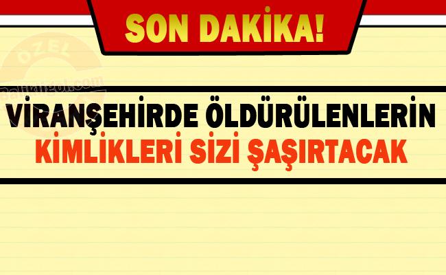 Viranşehir'de öldürülen 4 Terörist bakın kim çıktılar