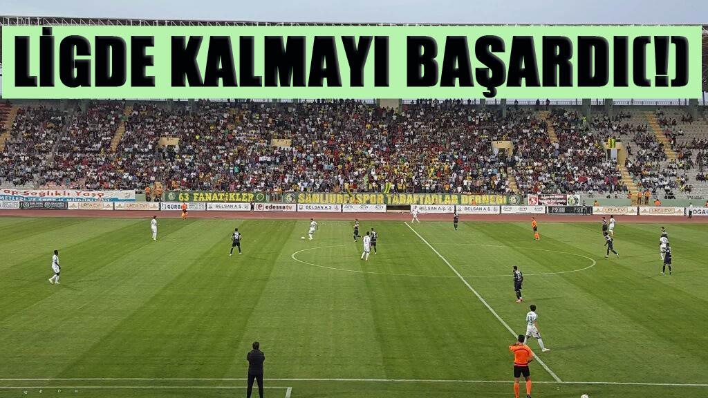 Şanlıurfaspor, Adana Demirspor'u 2 - 0 yendi, ligden düşmedi