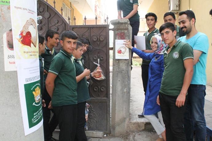Viranşehirli Öğrencilerden örnek kampanya