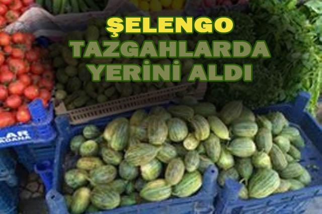 Urfa'nın meşhur sebzesi şelengo'su tezgahlarda yer aldı