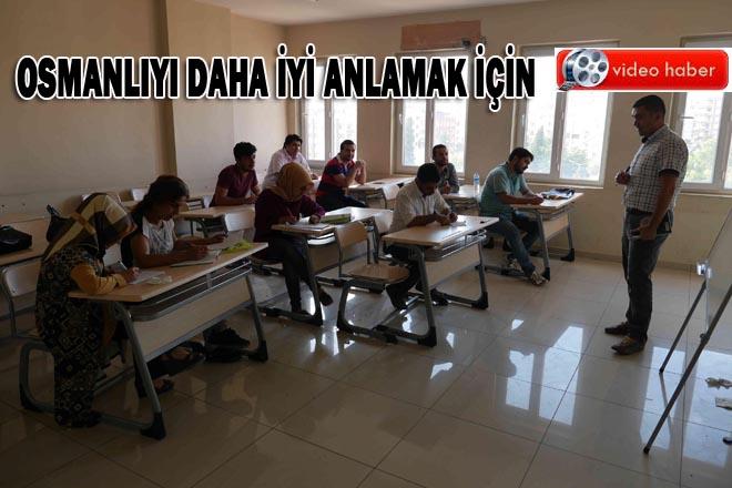 Şanlıurfa'da Osmanlıca öğreniyorlar