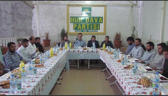 HÜDA PAR Gençleri iftar yemeğinde buluştular