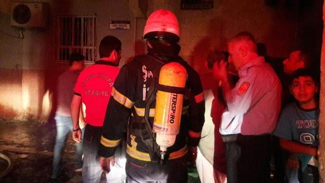 Eyyübiye'de çıkan yangın mahalleliyi korkuttu