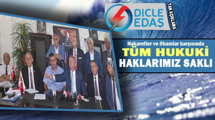 CHP heyetiyle ilgili bir açıklamada DEDAŞ'tan geldi