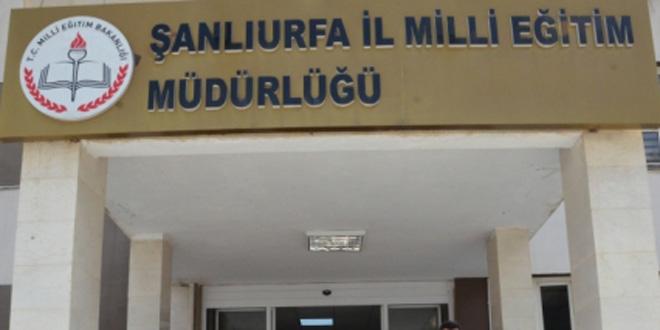 Urfa Milli eğitimde görevden alma depremi