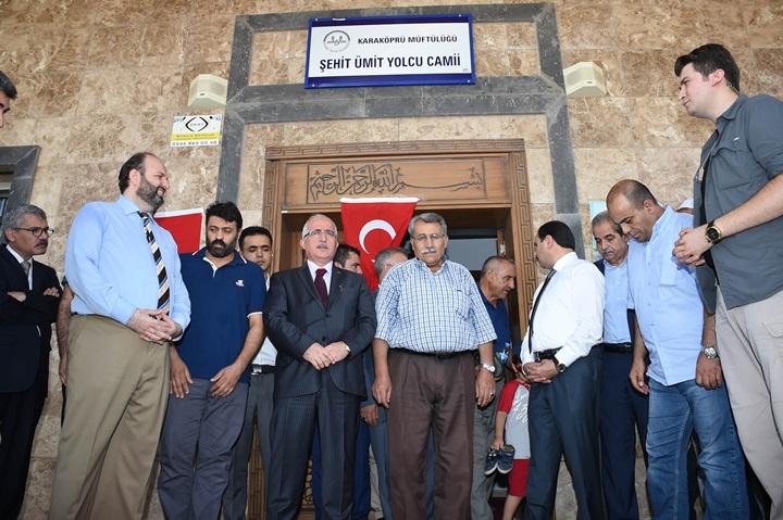 Şehit Ümit Yolcu'nun Adı Karaköprü'de Camiye Verildi