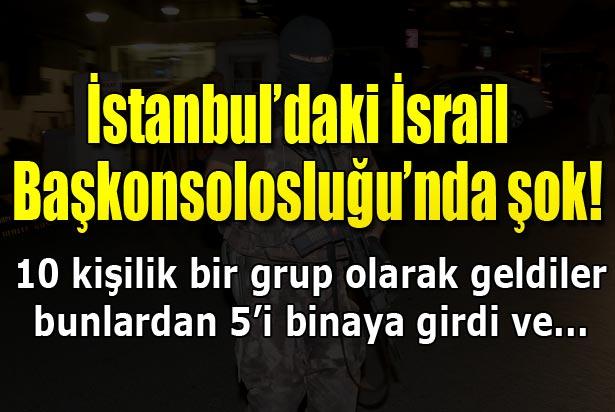 İsrail'i protesto eden grup Başkonsolosluk binasına girdiler