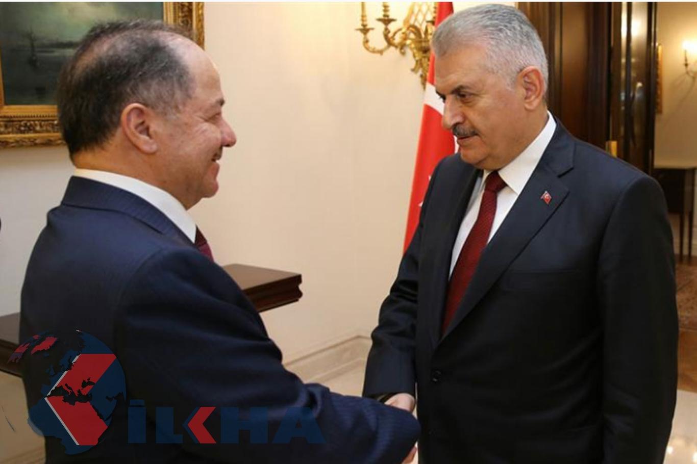 Ankara'da hareketlilik! Başbakan Yıldırım Barzani'yle görüştü