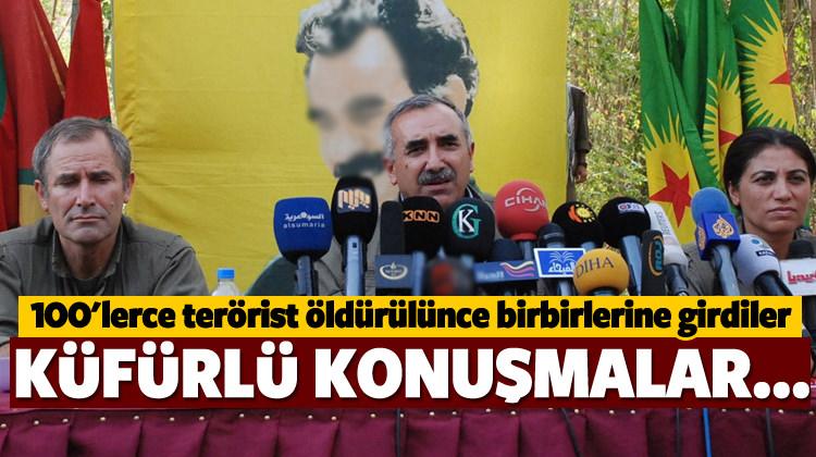 Yüzlerce PKK'lı öldürülünce liderleri bir birine girdi