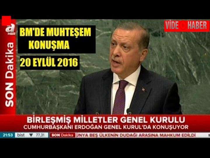 Erdoğan BM'de tarihi konuşma yaptı-konuşmanın tam metni!