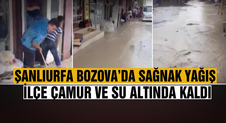 Yağmur Bozova'yı felç etti - Sel baskını oldu
