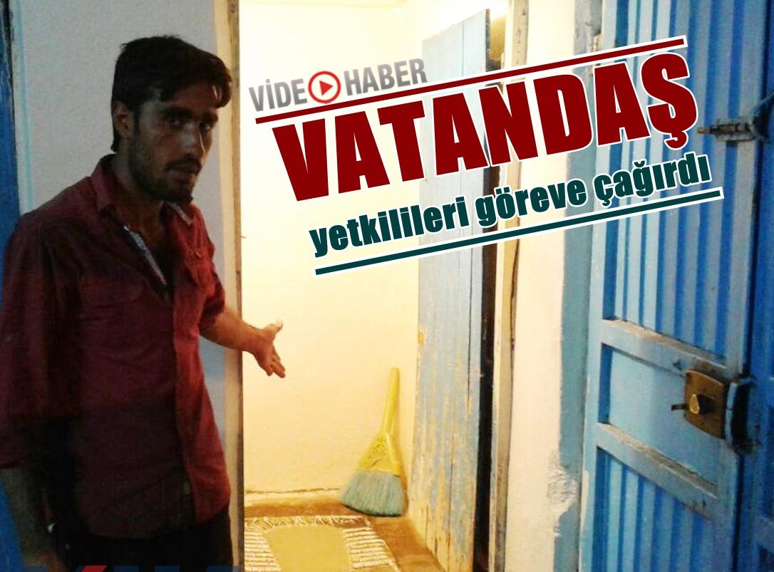 Eyyübiye'de Evini lağım suyu basan vatandaştan tepki