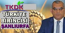 Sadık Yetim Başkanlığındaki Şanlıurfa TKDK Türkiye Birincisi Oldu