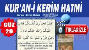 Kur'ân-ı Kerim  Hatmi Arapça 29.Cüz