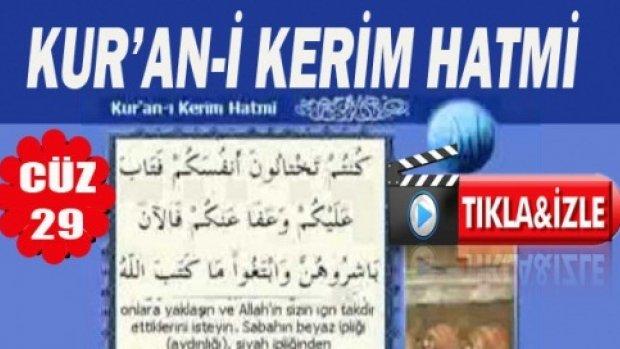 Kuran-i Kerim Hatmi Kabe İmamları 29. Cüz
